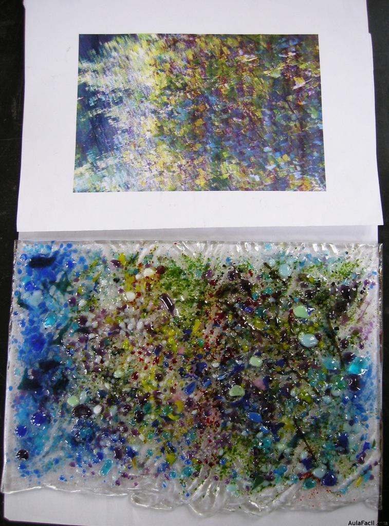 interpretacción con vidrio fusing