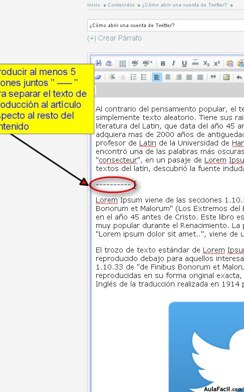 guiones para separar texto introductorio