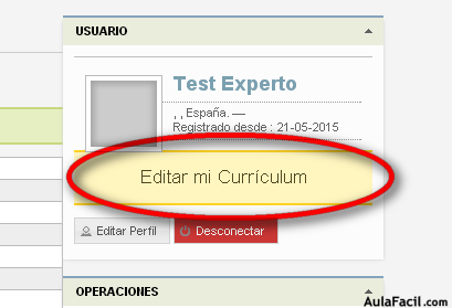 editar currículum